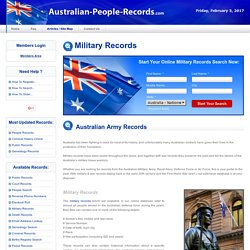 Australian Army & Military Records