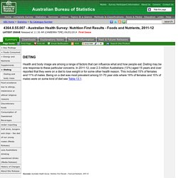4364.0.55.007 - Australian Health Survey: Nutrition First Results - Foods and Nutrients, 2011-12