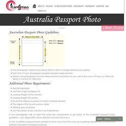 Australian passport photo size