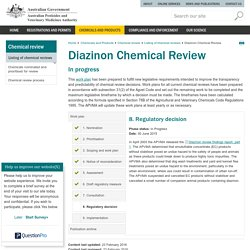 AUSTRALIAN GOVERNMENT 26/02/16 Diazinon Chemical Review