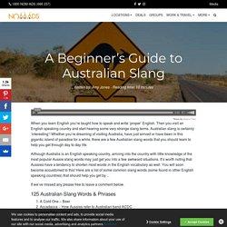 Over 125 Australian Slang Terms & Phrases
