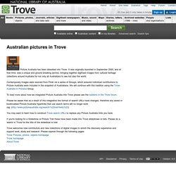 Australian pictures in Trove