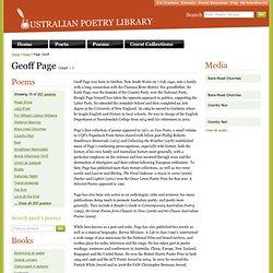 Page, Geoff - Poet