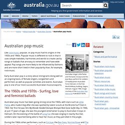 Australian pop music