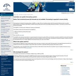 Australian Air Quality Forecasting System