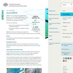 About ARENA - Australian Renewable Energy Agency