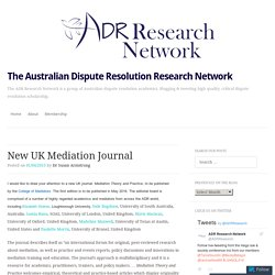 The Australian Dispute Resolution Research Network