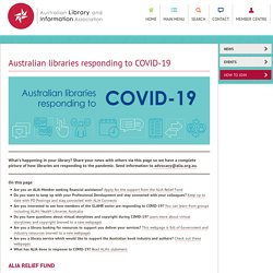 Australian libraries responding to COVID-19