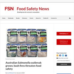 FOOD SAFETY NEWS 08/01/20 Australian Salmonella outbreak grows; bush fires threaten food safety