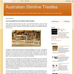 Australian Slimline Trestles: Go Cost-effective but Select High Quality