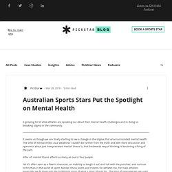 Australian Sports Stars Speak Out On Mental Health