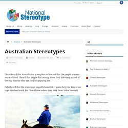 Stereotipi culturali: Australia