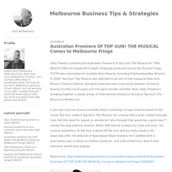 Australian Premiere Of TOP GUN! THE MUSICAL Comes to Melbourne Fringe - Melbourne Business Tips & Strategies
