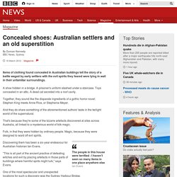 Concealed shoes: Australian settlers and an old superstition