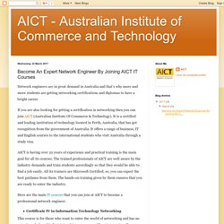 Become An Expert Network Engineer By Joining AICT IT Courses