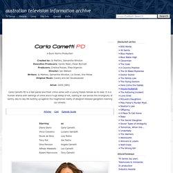Australian Television: Carla Cametti PD