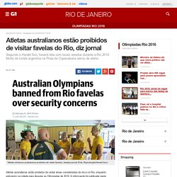 Atletas australianos estão proibidos de visitar favelas do Rio, diz jornal - notícias em Olimpíadas Rio 2016