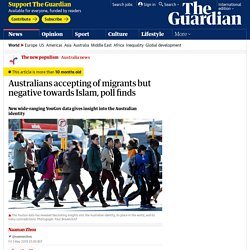Australians accepting of migrants but negative towards Islam, poll finds