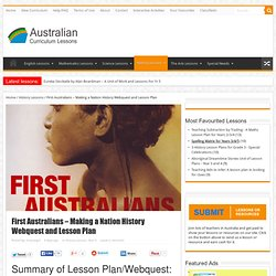 First Australians - Making a Nation History Webquest and Lesson Plan