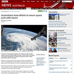 Australians lead efforts to move space junk with lasers