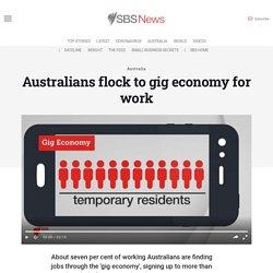 Australians flock to gig economy for work