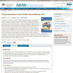 Young Australians: their health and wellbeing 2011