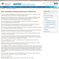 More Australians seeking treatment for alcohol use