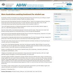 More Australians seeking treatment for alcohol use