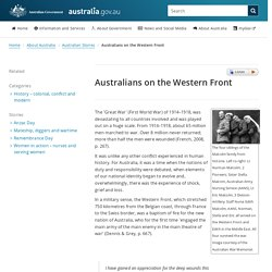 Australians on the Western Front