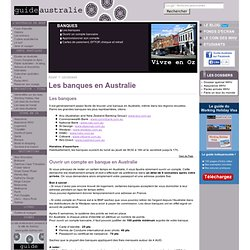 Guide Australie : banques et ouvrir un compte bancaire en Australie