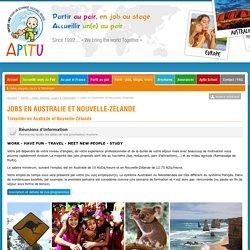 APITU - jobs en Australie et Nouvelle Zelande, travailler à l'etranger
