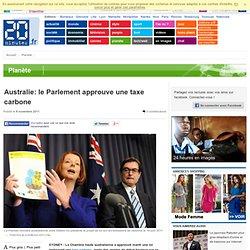 SYDNEY - Australie: le Parlement approuve une taxe carbone