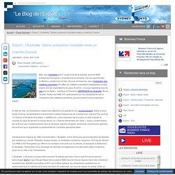Export l Australie 12ème puissance mondiale reste un marché d avenir - Business France - France