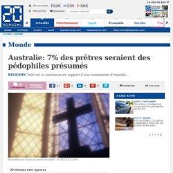 Australie: 7% des prêtres seraient des pédophiles présumés