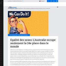 Egalité des sexes: L'Australie occupe seulement la 24e place dans le monde – Courrier Australien