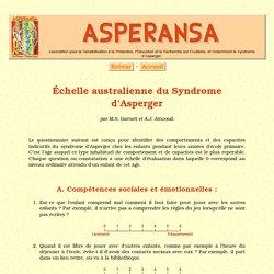 Échelle australienne du Syndrome d'Asperger