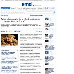 Datan el esqueleto de un Australopithecus contemporáneo de Lucy