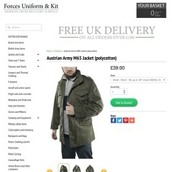 Austrian Army M65 Jacket (polycotton)
