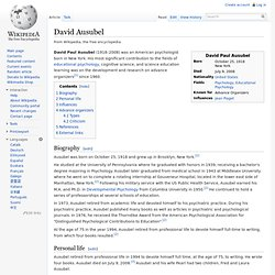 David Ausubel