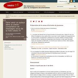 Faire venir un auteur dans la classe : compilation de messages issus de la liste cdidoc-fr