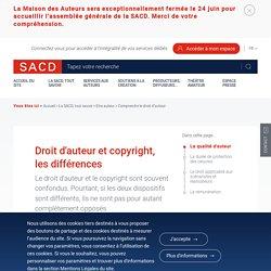 Droit d'auteur et copyright, les différences