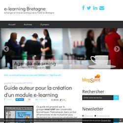 Guide auteur pour la création d'un module e-learning