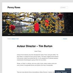 Auteur Director – Tim Burton