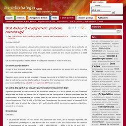 Droit d'auteur et enseignement : protocole d'accord signé