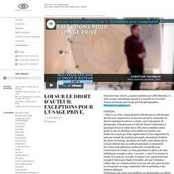 Loi sur le droit d'auteur: exceptions pour l'usage privé. « CAPIC Montreal