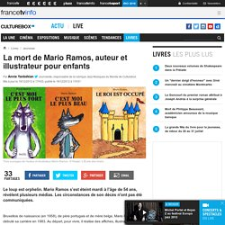 Mario Ramos, auteur et illustrateur pour enfants / culturebox