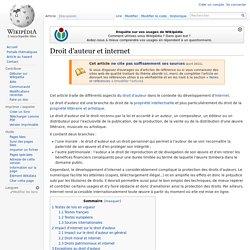 Droit d'auteur et internet