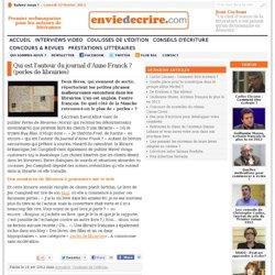 Qui est l'auteur du journal d'Anne Franck ? (perles de librairies)