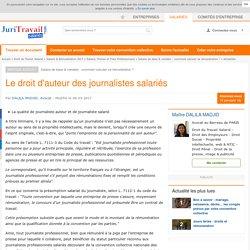 Le droit d'auteur des journalistes salariés