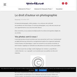 Le droit d'auteur en photographie
